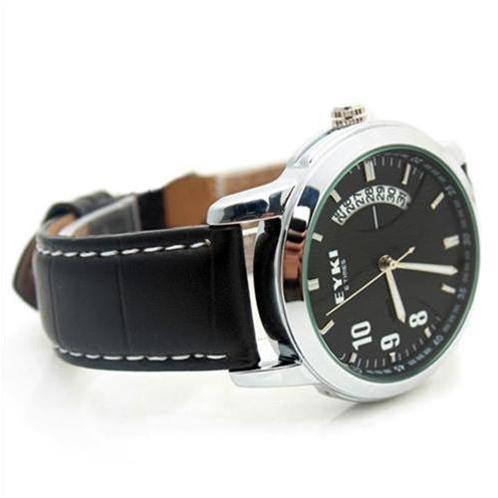 Đồng hồ nam EYKI 8408AG (Đen dây da (N2))-EY0001-2