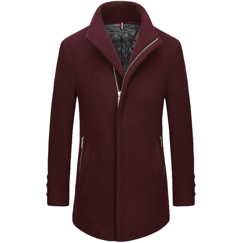 Áo khoác Top Coat dạ lông cừu khuy chìm KSLPT style Âu Mỹ