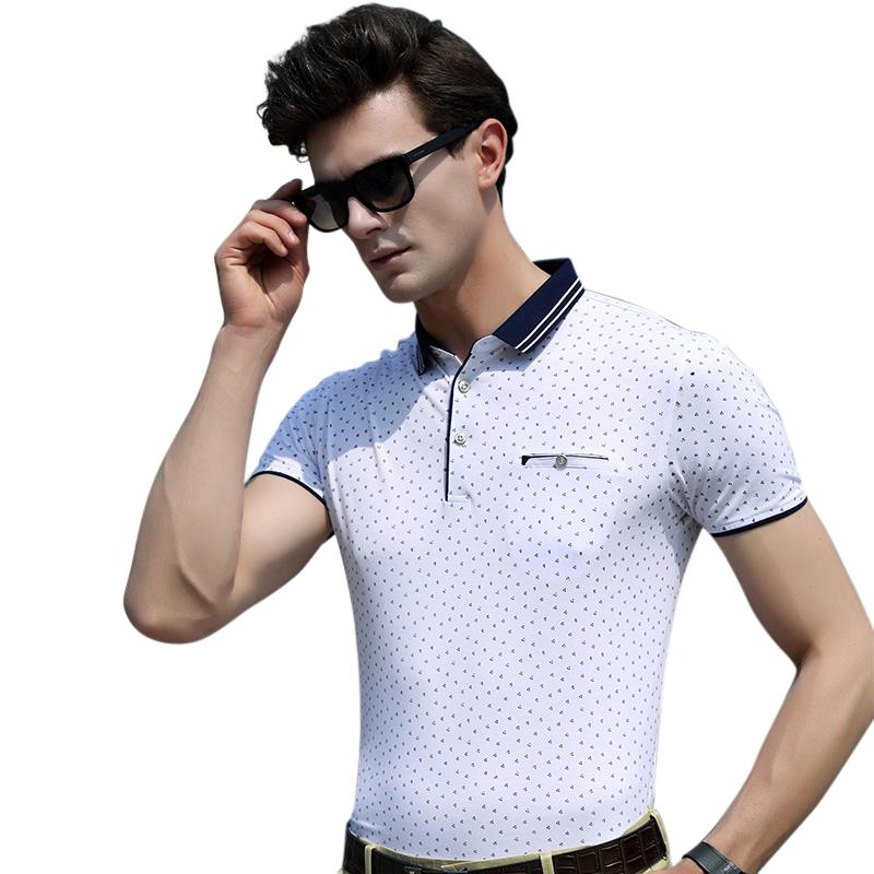 Áo T-shirt nam ngắn tay chấm bi Sunsus