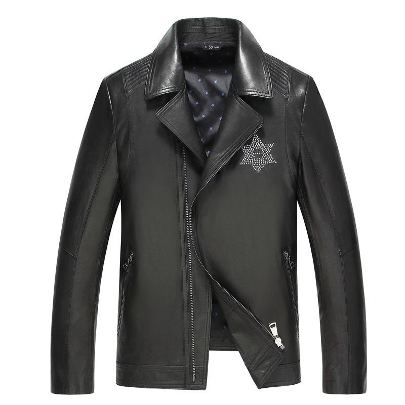 Áo Biker Jacket Da dê WDD đính đá biểu tượng sao 6 cánh