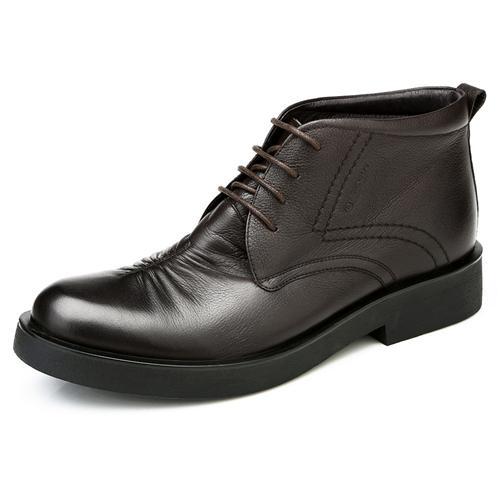 Giày boot da Olunpo DHT1419 Đệm nhung ấm áp