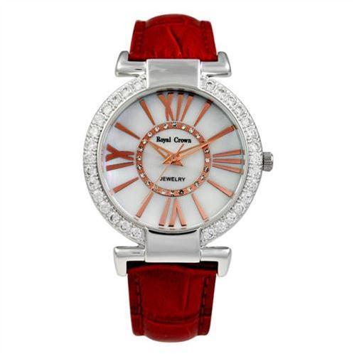 Đồng hồ nữ thời trang dây da cao cấp Royal Crown