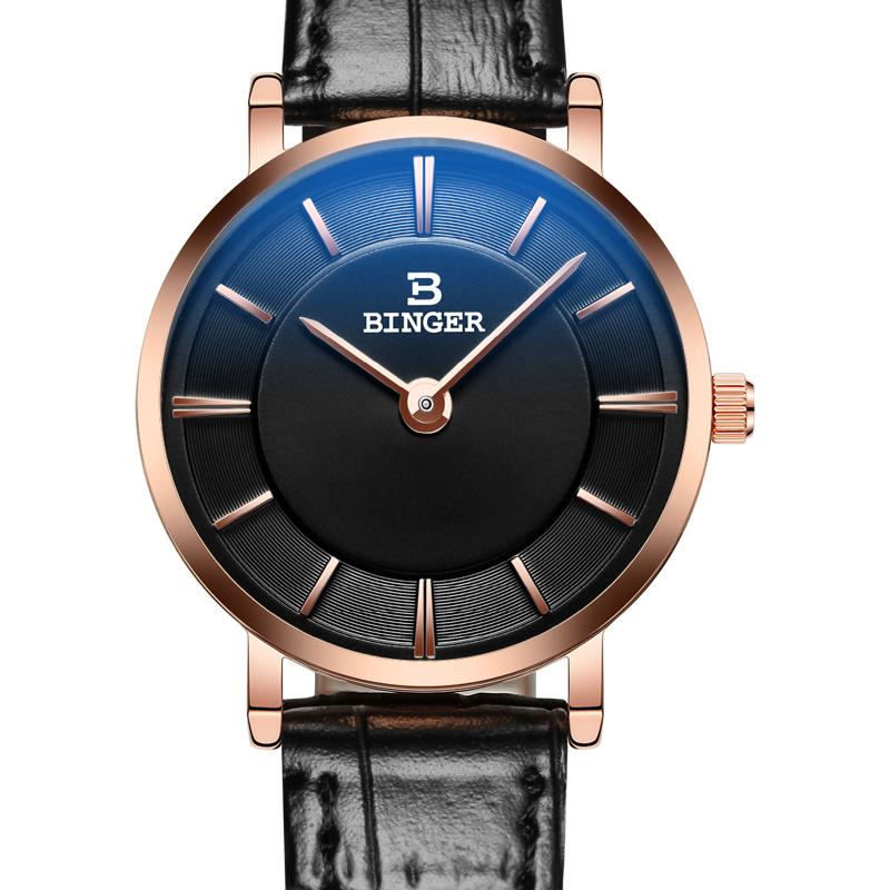 Đồng hồ nữ Binger siêu mỏng style retro