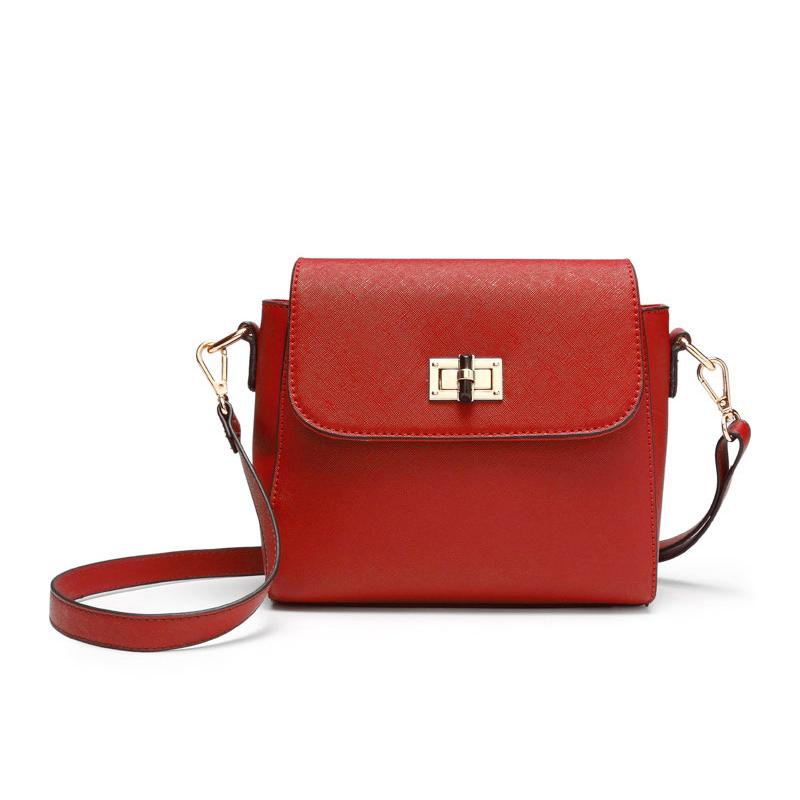Túi đeo chéo mini nắp khóa xoay Micherr