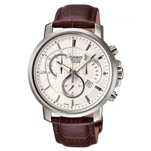 Đồng hồ Casio Beside BEM-506L-7AVDF (Trắng,dây da nâu (N2))-CA0002-2