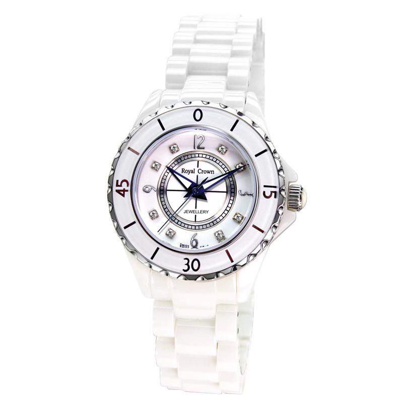 Đồng hồ nữ kính saphire tinh khiết Royal Crown 3821L