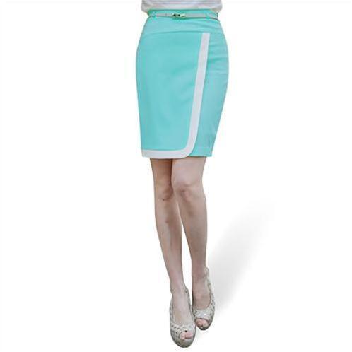 Chân váy công sở viền trắng trang nhã
