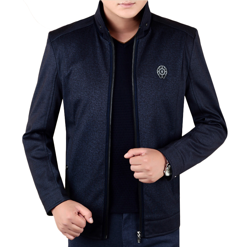 Áo Jacket nam dạ lông cừu cổ đứng khóa kéo KSLPT