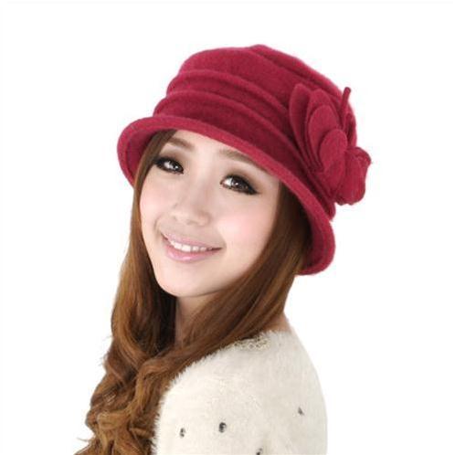 Mũ len nữ Dorain P036 Hoa nơ cho nàng yểu điệu