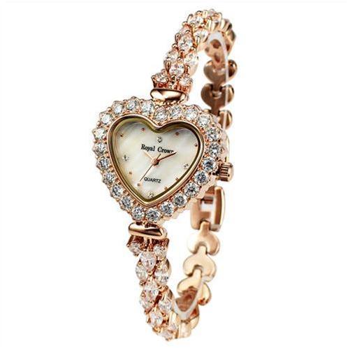 Đồng hồ nữ mặt hình trái tim Royal Crown