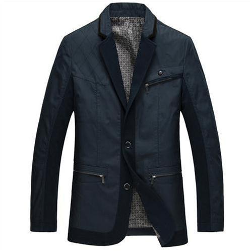 Jacket nam cổ bẻ giả vest Nleidun