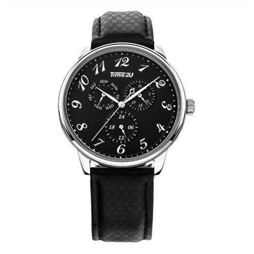Đồng hồ nam dây da Time2U