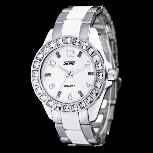 Đồng hồ nữ Skmei SK-0936 viền gắn đá tinh xảo