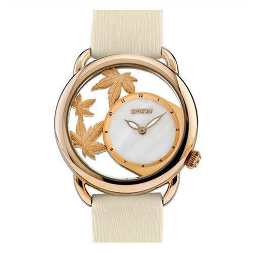 Đồng hồ nữ Time2U Lá vàng