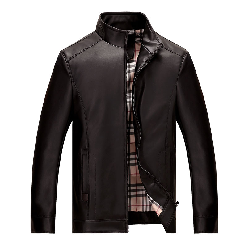 Áo Jacket da nam Men Leather phong cách quân đội
