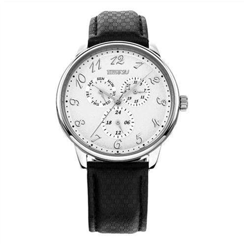 Đồng hồ nam dây da Time2U lịch lãm