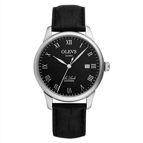 Đồng hồ nam Olevs Romantic L41 (Đen dây da đen (N1))-OV0003-1