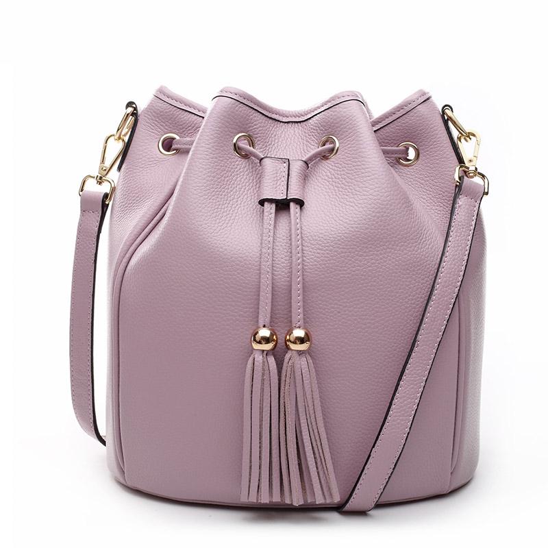 Túi nữ Bucket bag tua rua Jianti