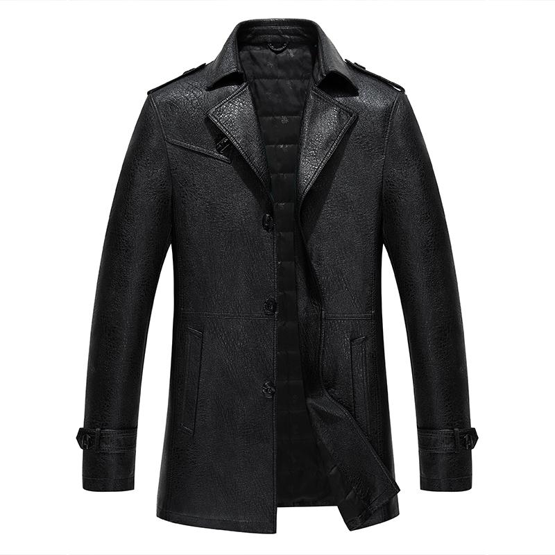 Áo khoác da nam kiểu dáng Trench Coat HXDSL