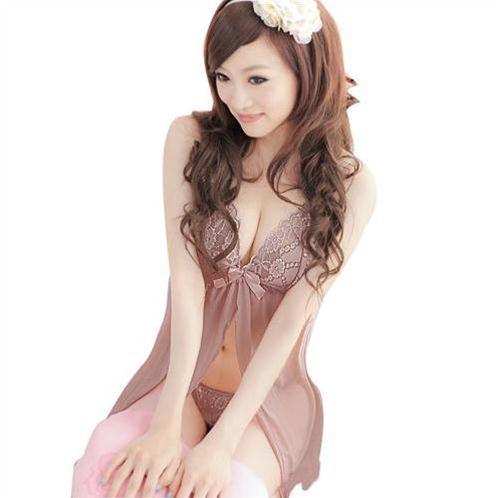 Đầm ngủ nữ xẻ vạt gợi cảm Hamuse