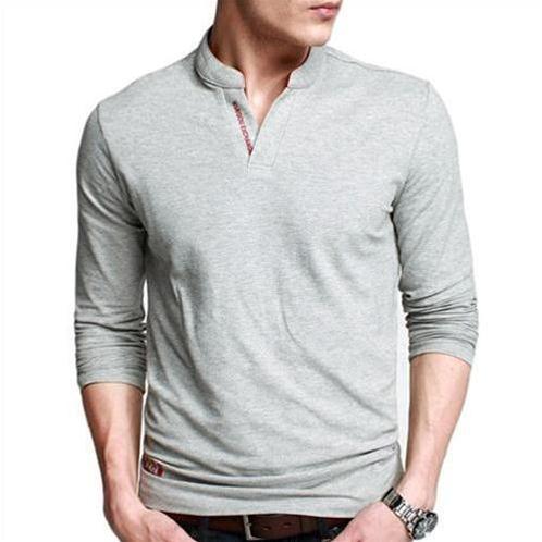 Áo T-shirt nam K-Jeans cổ tàu cách điệu