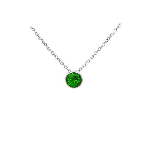 Dây chuyền mặt đá may mắn - Pha lê xanh lá cây