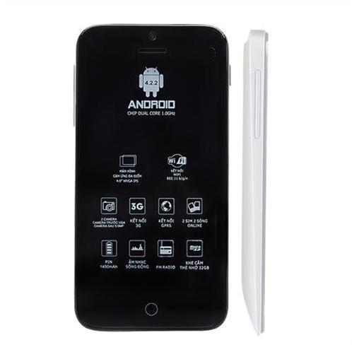 Điện thoại Masstel M390 cảm ứng - Màu bạc (tặng kèm sim Viettel)
