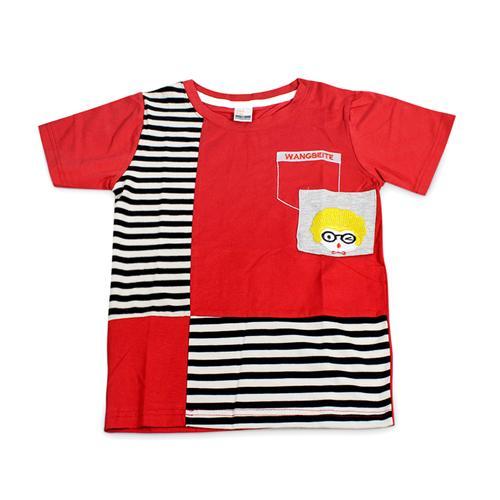 Áo phông bé trai Wangbeite phối kẻ sọc Sài Gòn Kid