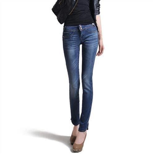 Quần Jeans nữ Bulkish phong cách Hàn Quốc xẻ gấu sành điệu