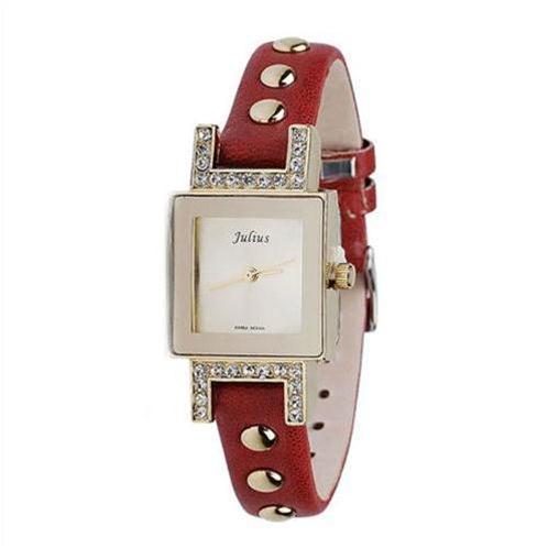 Đồng hồ nữ mặt vuông Julius Hàn Quốc JA522