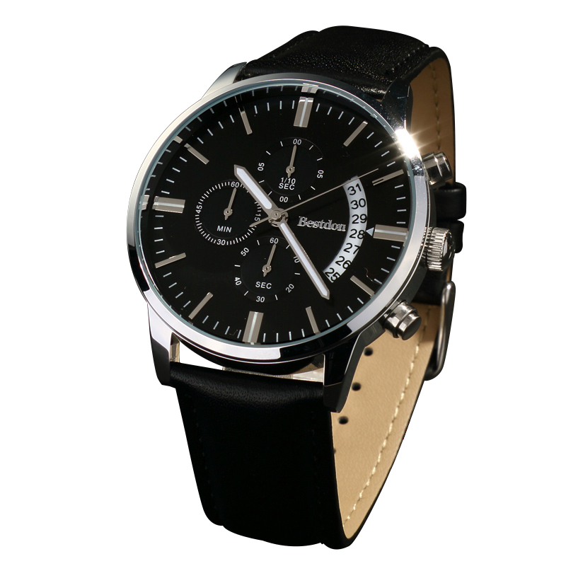 Đồng hồ nam Bestdon mặt tròn cổ điển