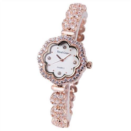 Đồng hồ nữ Royal Crown mặt hình cánh hoa