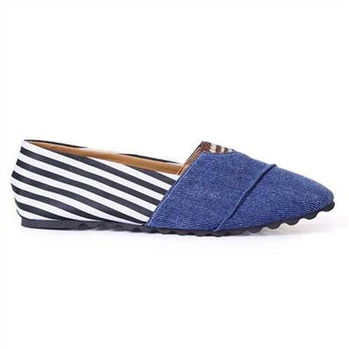 Giày Vải nữ Windy cao cấp dòng Jeans phối da