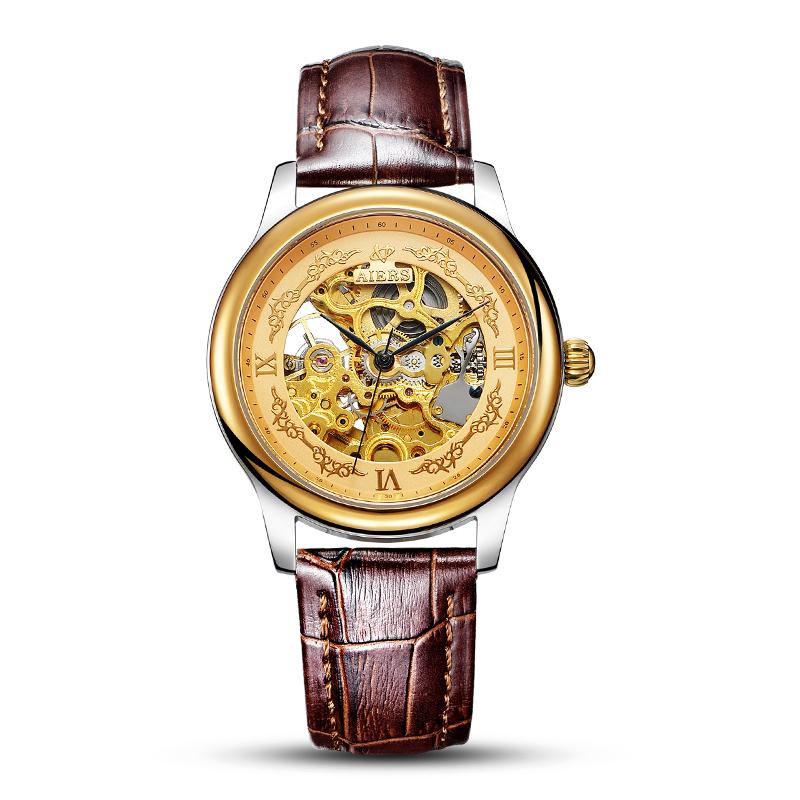 Đồng hồ nam Aiers B125G mặt rỗng thiết kế tinh xảo