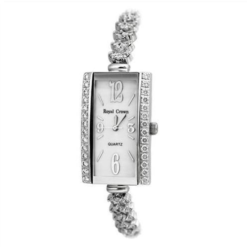 Đồng hồ nữ cao cấp Royal Crown 3818 mặt chữ nhật