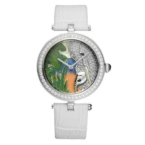 Đồng hồ nữ thời trang tráng men hình con voi độc đáo lạ mắt  Pinch L9509