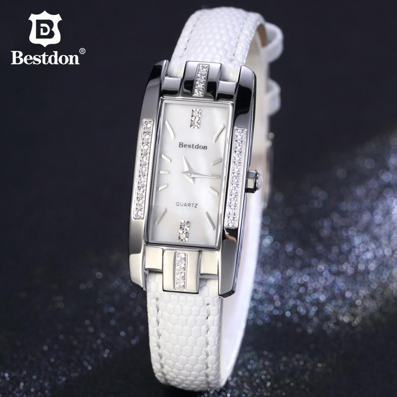 Đồng hồ nữ Bestdon mặt chữ nhật ánh ốc biển