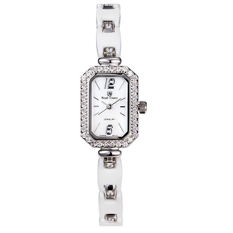Đồng hồ trang sức nữ dây ceramic Royal Crown 63809C