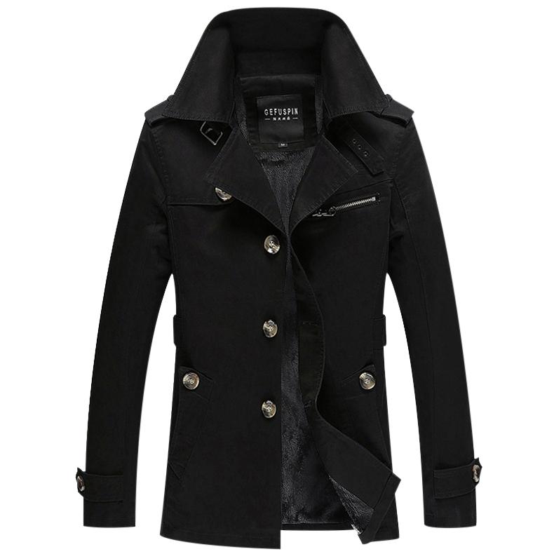 Áo Trench coat nam lót nỉ giữ ấm GF