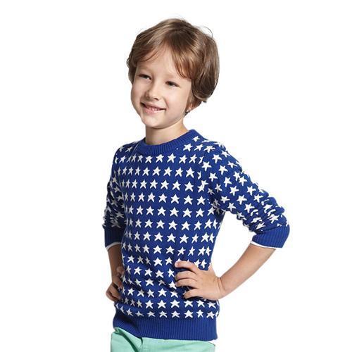 Áo len cho bé trai Tiger Mini họa tiết ngôi sao