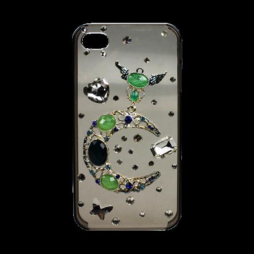 Vỏ Iphone 4/4s trong suốt đính đá N3