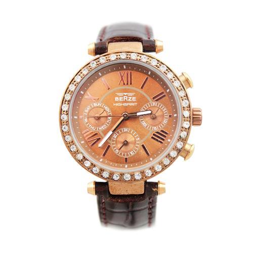 Đồng hồ nữ mặt tròn đính đá Kelly Julius BS041