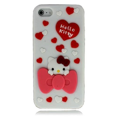 Vỏ Iphone 5 Hello Kitty (Trắng (N5))-IP00235-5