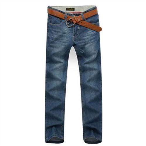 Quần jeans nam Lehondies ống đứng cổ điển