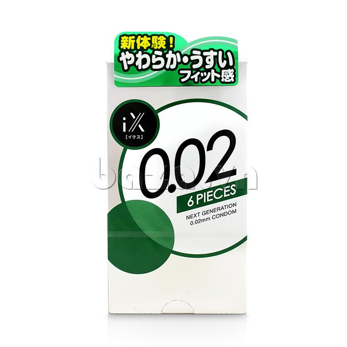 Bao cao su siêu mỏng Jex IX 0.02 mm