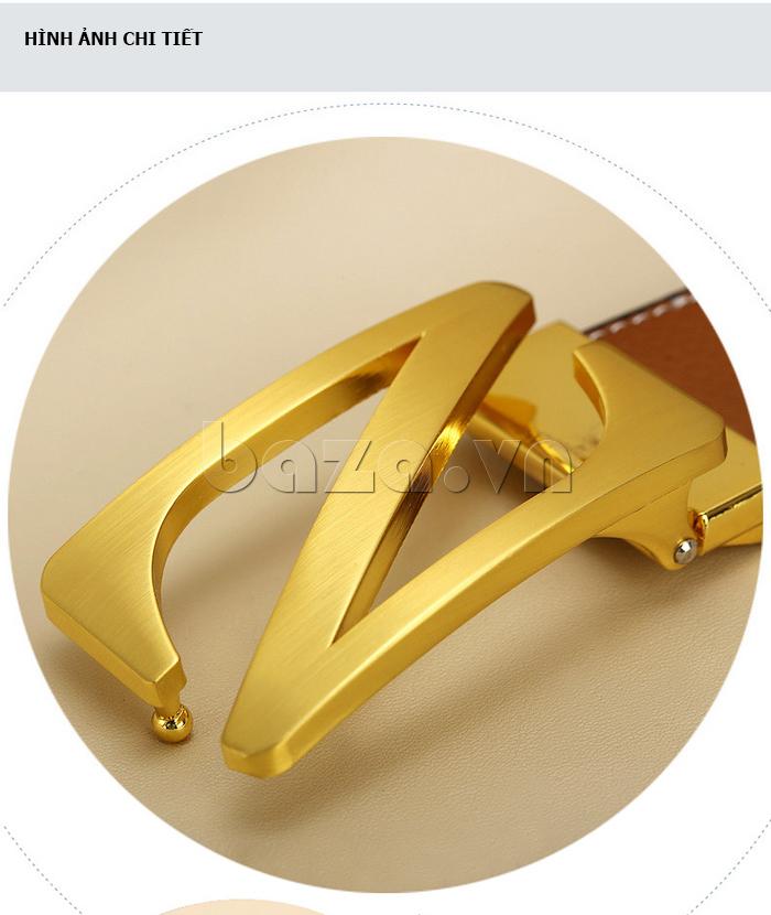 Dây lưng nam Feayoo FY-D060 mặt khóa mạ vàng
