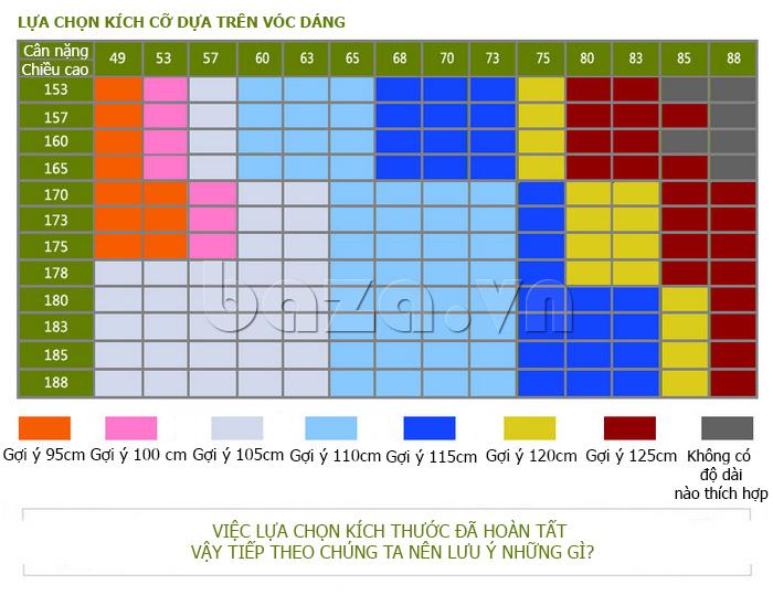 Gợi ý chọn lựa kích thước phù hợp của Dây lưng nam Feayoo FY-D060