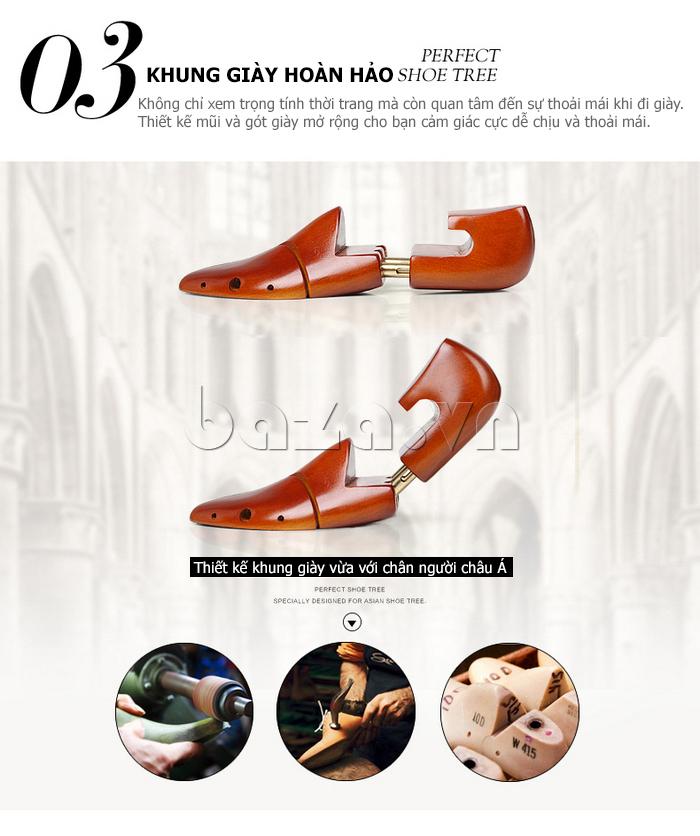 thiết kế khung giày phù hợp với chân của người châu á
