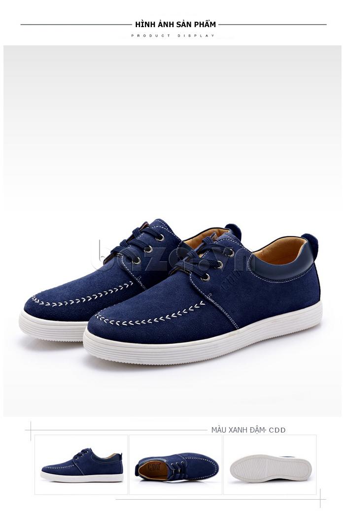 Giày nam da lộn CDD 1308 có nhiều phong cách cho bạn tự trải nghiệm