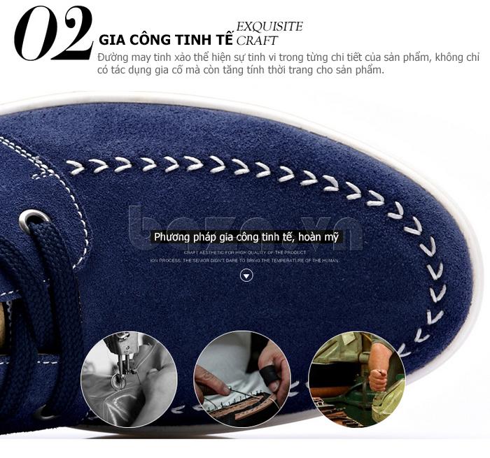 Giày nam da lộn CDD 1308 sử dụng phương pháp gia công tinh tế